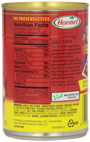 037600223188 - Hormel Chili with Beans 15 oz carousel main 3