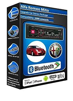 Alfa Romeo Mito autoradio Alpine UTE 72BT mains-libres Bluetooth pour autoradio stéréo