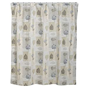Croscill Spa Leaf Shower Curtain, 70-inch by 75-inch, Multi
