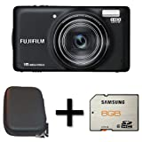 Fujifilm FinePix T400 Black + Case and 8GB Memory Card(16MP, 10x Optical Zoom) 3 inch LCD