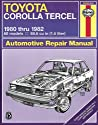 Toyota Corolla and Tercel, 1980-82 (Haynes Manuals)