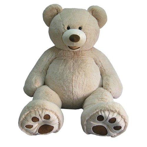 ハグミービッグベア★134cmのくまのぬいぐるみ SITTING BEAR 大きなクマさんぬいぐるみ【135cm】  ベージュ