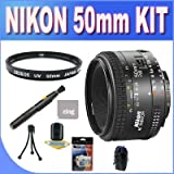 Nikon 50mm f/1.8D AF Nikkor Lens for Nikon Digital SLR Cameras + UV Filter + Lens Pen Cleaner + Shock Proof Deluxe Lens Case + Microfiber Cleaning Cloth + Accessory Saver Bundle!
