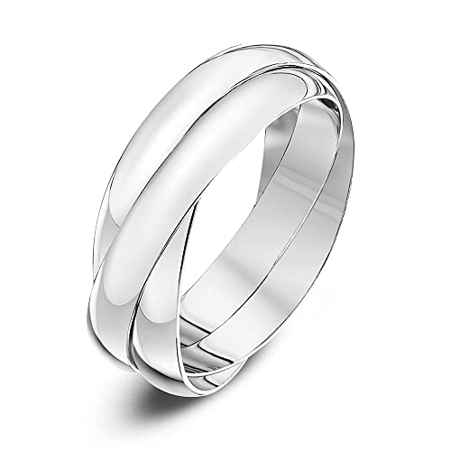 Theia Unisex Heavy Weight 3 Bands Russian Wedding Ring