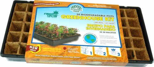 Planters Pride RZG50170 Fiber Grow Coconut Greenhouse Starter Kit, 50 Pots photo