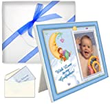 Baptism Christening Gifts for Godfather With Love Picture Frame - Boy