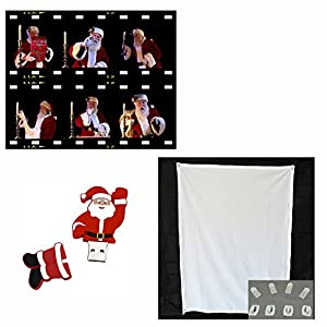 Virtual Santa Claus Window Projection screen and a USB Flash Drive