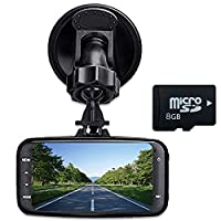 "digitsea® Novatek 96220 140degrees wide-angle 2.7""LCD 1080P HD Car DVR Vehicle Camera Video Recorder camcorder Road Dash Cam GS8000 /w memory card /12V-24V input truck charger/HDMI interface"