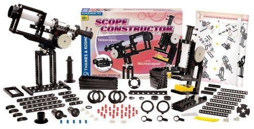 2 Item Bundle: Thames & Kosmos 555050 Scope Constructor Optical Science Construction Kit + Kids Coloring Activity Book