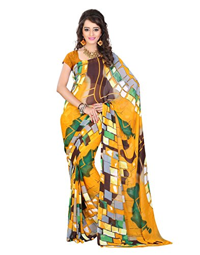 Sarees Ethnic Wear Orange