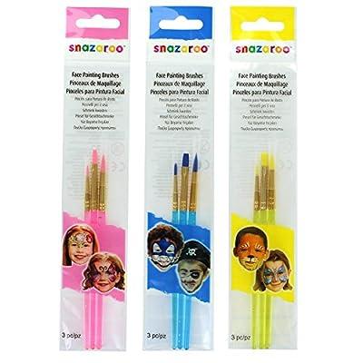 Snazaroo Face Painting Brushes, Set of 3