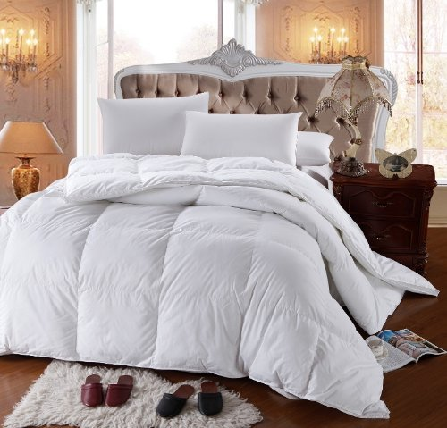 Royal Hotel'S 500-Thread-Count California-King Size Goose Down Alternative Comforter 100 Percent Egyptian-Cotton 500 Tc - 750Fp - 86Oz - Solid White front-522489