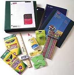 Green Binder School Supplies Value Bundle