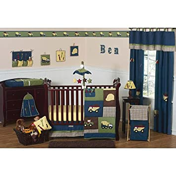 New Sweet Jojo Designs Construction Collection Piece Crib Bedding Set