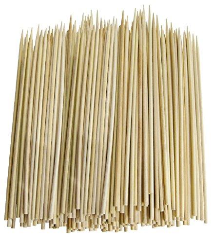 Lot de 300fin Brochette en bambou pour barbecue, brochettes, pour brochettes, Hors-d' œuvre (15,2cm)