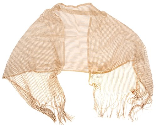 Love Lakeside-Women's Evening Sparkle Wrap, Shawl (One, Sheer Gold)