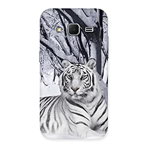 Premium Snow Tiger Back Case Cover for Galaxy Core Prime