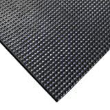 "Rubber-Cal ""Super-Grip Scraper"" Rubber Runner Mats - 3/16 Thick x 4ft Wide - Black - Sold in 6 Assorted Lengths"