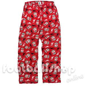 Mens Liverpool Fc Football Club 100 Cotton Pyjama Bottoms Lounge Sleep Wear Pants Lrg by Socks Uwear