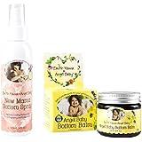 Maven Gifts: Earth Mama Angel Baby 2-Pack Bundle - 2 Oz. Bottom Balm Calendula Herbal Diaper Cream With 4 Oz....