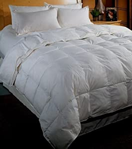 "White Down Alternative Comforter 300 count Micro-Fiber- Duvet Cover Insert - King Size (106x90"")"