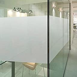 (0.6M X 1M) DuoFire Decorative Repositionable stained Non-adhesive Privacy Glass Window Film DS001W
