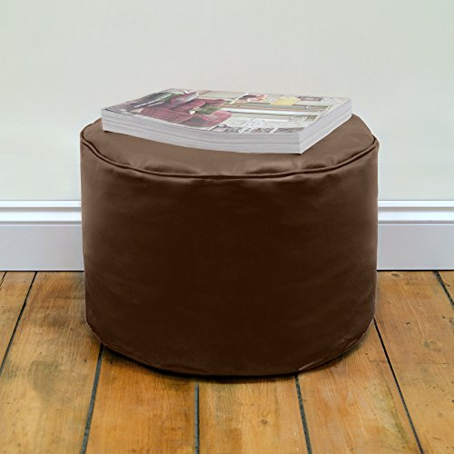 round-beanbag-stool-in-brown-faux-leather-by-bean-bag-bazaar