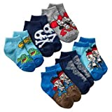 Disney Jake and the Neverland Pirates Toddler Boy's 1/4-Crew Socks 6 Pair Size: 2T-4T
