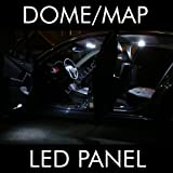 LED WHITE 2X DOME MAP INTERIOR LIGHT BULB 9 SMD CIRCLE PANEL XENON HID LAMP - FITS ALL VEHICLES