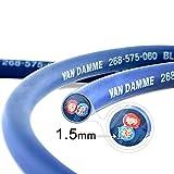 Van Damme Professional Blue Series Studio Grade 2 x 1.5 mm (2 core) Twin-Axial Speaker Cable 268-515-060 12 Metre / 12Mby Van Damme