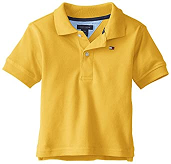 Tommy Hilfiger Baby-Boys Infant Short Sleeve Ivy Polo, Yellow, 12 Months