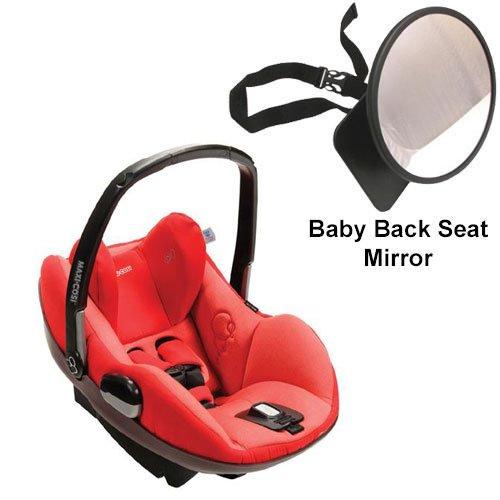Maxi-Cosi IC090BIY Prezi Infant Car Seat w Back Seat Mirror - Envious Red