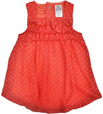 Baby Essentials Swiss Dot Bubble Bodysuit 3 Mo Coral