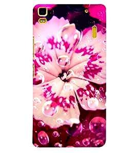 Fuson 3D Printed Flower Designer back case cover for Lenovo K3 Note - D4484