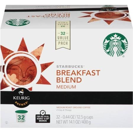 Starbucks Breakfast Blend Medium Roast Ground Coffee K-Cup Pods, .44 oz, 32 count (K Cups Starbucks Breakfast Blend compare prices)
