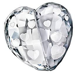 Swarovski Love Heart, Crystal Silver Shade, Medium Collectible Doll