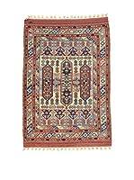L'Eden del Tappeto Alfombra Konya Antik Beige / Rojo / Azul 112 x 147 cm