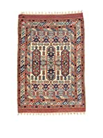 Eden Carpets Alfombra Konya Antik Beige/Rojo/Azul 147 x 112 cm