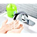LAYKOR Automatic Touch-Free Lavatory Bathroom Sink Sensor Faucet (Hot & Cold)