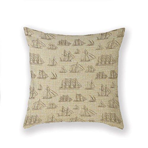 Vintage Throw Pillow Covers 18x18 : Custom Picture Vintage Ships 18x18 Inch Square Cotton Linen Decorative Throw Pillow Case Decor ...
