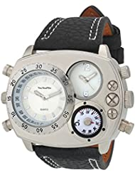 Oura V6 Stylist Dual Time With Campas Sport Wear Miltry Watch For Men