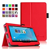 "Fintie Chromo 7"" Tablet Folio Case Cover - Premium Leather With Stylus Holder for Chromo Inc 7 Inch Android Tablet (Front Camera Version Only) - Red"