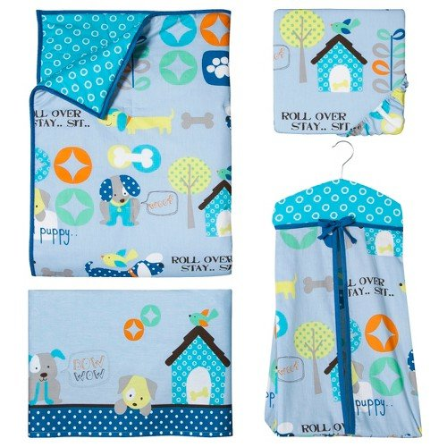Good Puppy 6pc Crib Bedding Set