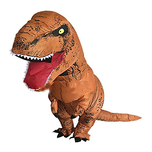 Adults T-REX Inflatable Dinosaur Costume Jurassic Halloween Blowup Outfit Most Viewed (Annual Halloween Costume Party)