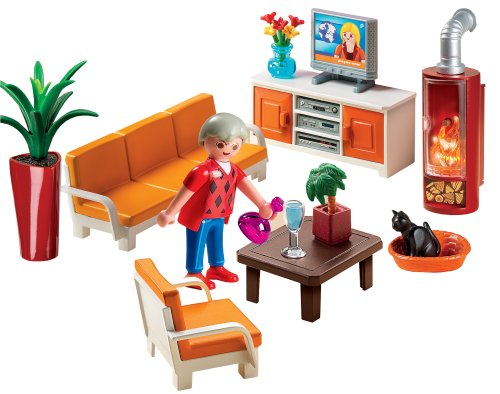 Playmobil 5332 jeu de construction salon avec for Salon playmobil