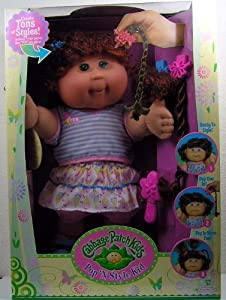 Cabbage Patch Kids Pop 'N Style Doll - Red Curly Hair & Green Eyes in Ice Cream Cone Outfit