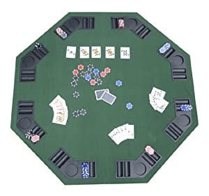 Amazon.com: Deluxe Foldable Poker / Blackjack Card Game Table Top