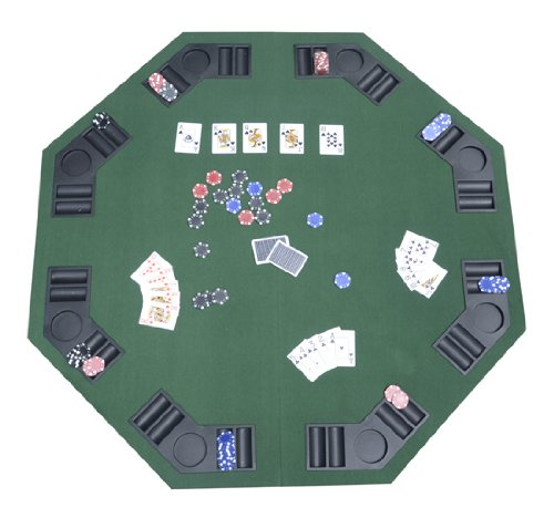 New Deluxe Foldable Poker / Blackjack Card Game Table Top w/ Carrying Bag
