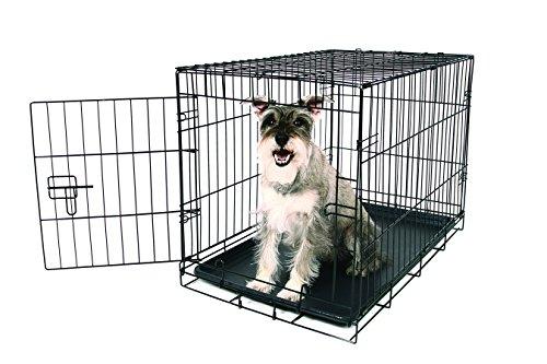 Carlson-Secure-and-Compact-Single-Door-Metal-Dog-Crate-Medium