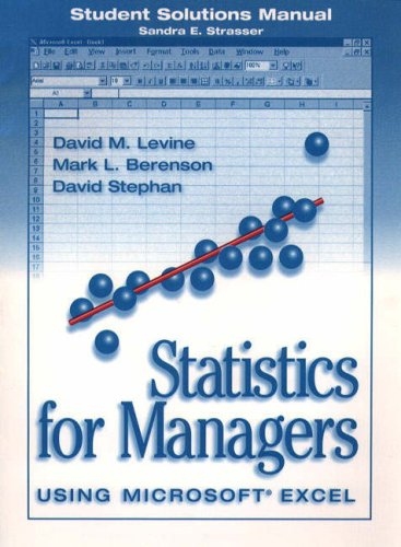 Statistics for Managers - Using Microsoft Excel : Student Solutions Manual